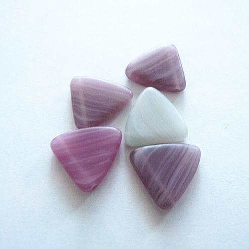 Růžové trojúhelníky 5 ks