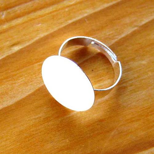 Prsten 18mm - Stříbrný