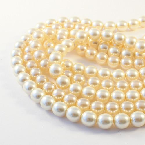 Voskové perle 8 mm krémové 20 ks