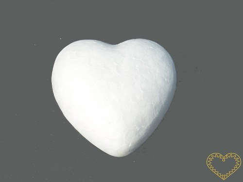 Polystyrenové srdce - výška 10 cm