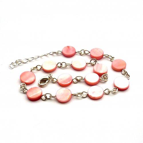 Růžový perleťový náramek