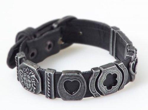 kožený náramek-talisman láska,štěstí zdraví