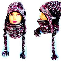Originální zimní čepice,ušanky a nákrčníky Ledova