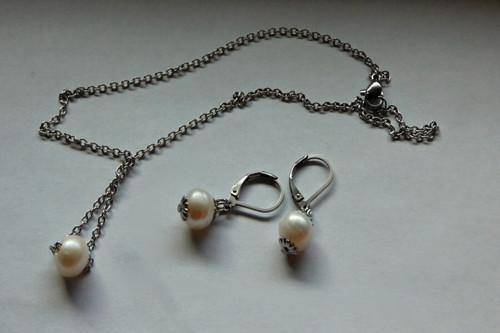 Souprava- Říční perle v jednoduchosti.....