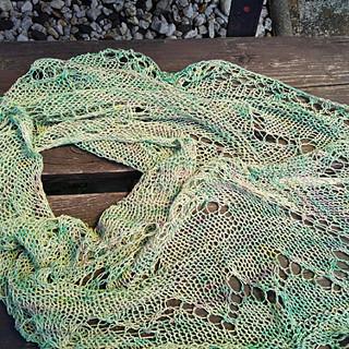 Šátek - buretové hedvábí ručně barvené