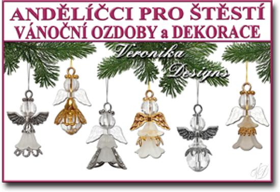andělíčci pro štěstí vánoční ozdoby a dekorace