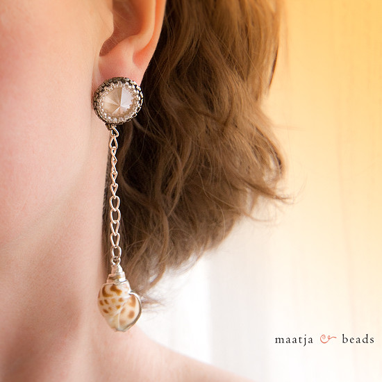 Shelly earrings - Ivory Cream