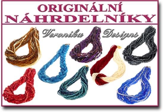 originální korálkové náhrdelníky Veronika Designs