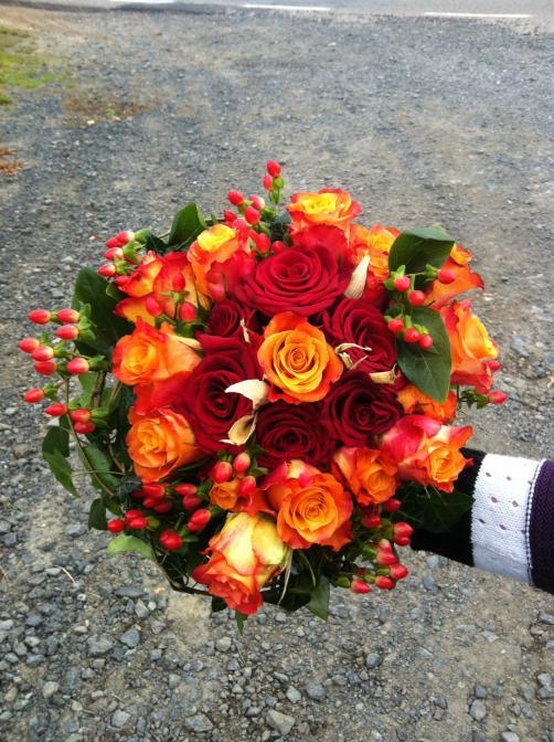 Nevšední svatební kytice - RossMarie