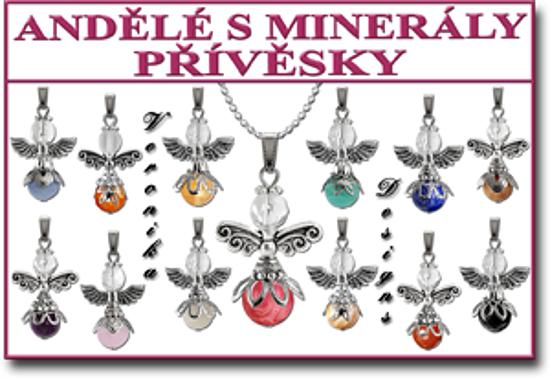 Andělé pro štěstí přívěsky s minerály Veronika Designs