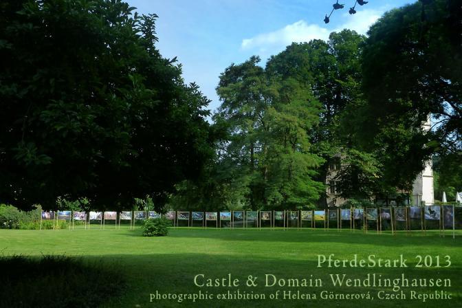 samostatná fotografická výstava v parku zámku Wendlinghousen