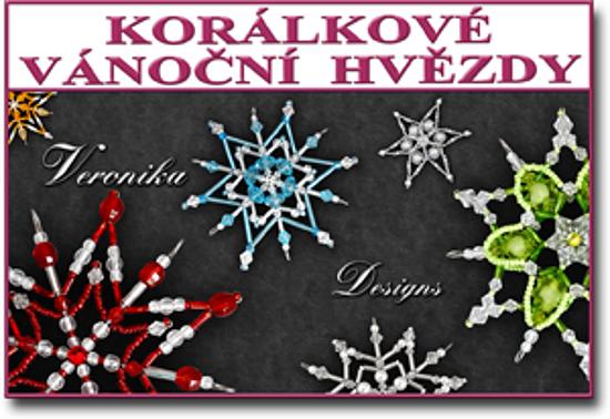 vánoční korálkové hvězdy Veronika Designs