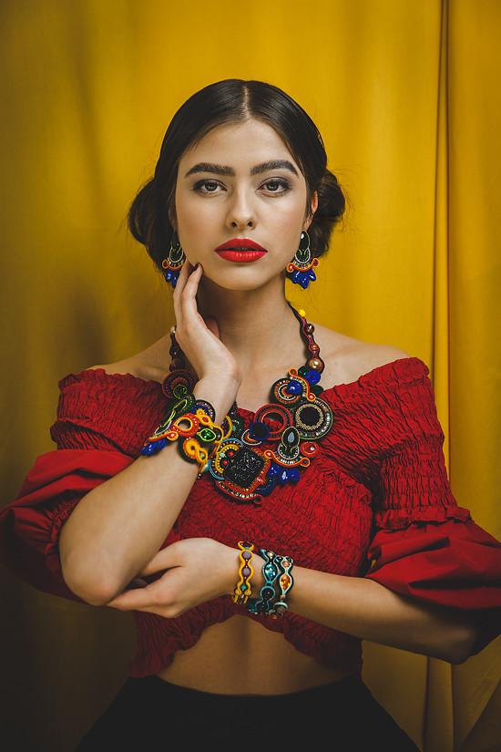 Kolekcia Frida soutache šperky bazu barčáková