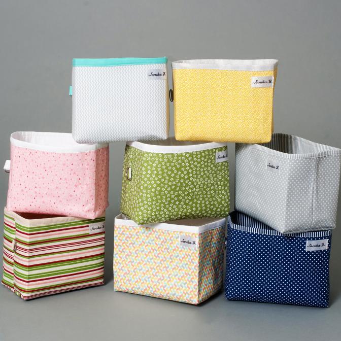Textilní košíky všech barev a velikostí