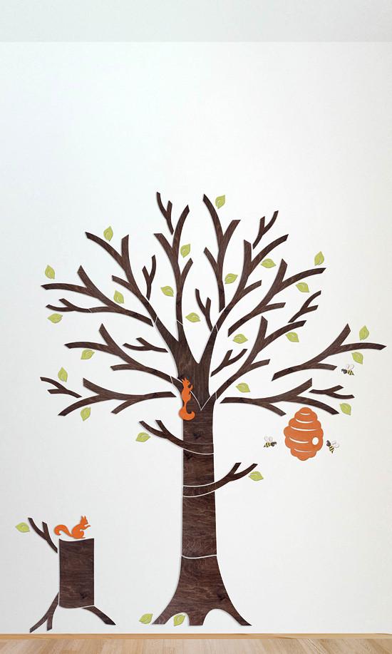 dekoracena zeď strom