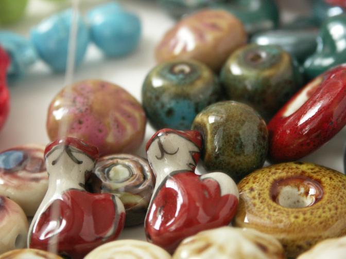 Porcelánové korálky