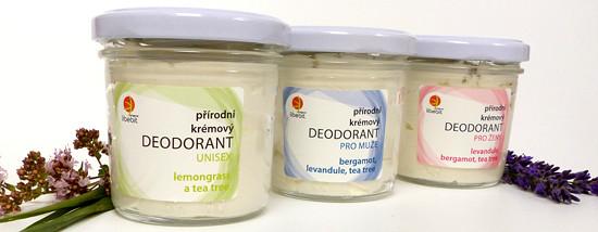 libebit přírodní krémové deodoranty ve skle