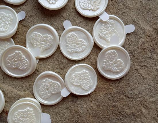 svatební pečeť Srdíčko s ornamenty