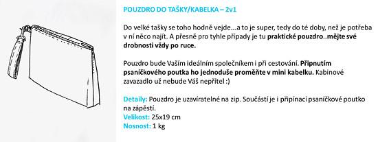 Psaníčko/pouzdro 2v1