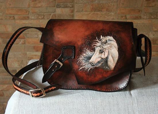 kabelka kožená