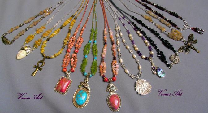 Široká nabídka autorských šperků s minerály