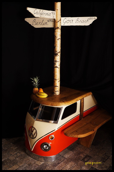 papon design steampunk design steampunk styl creative deasign kuchyně kuchyňská linka kitchen design kitchen design furniture steampunk furniture hippie furniture hippie styl vw bus bulli vw t1 busík california