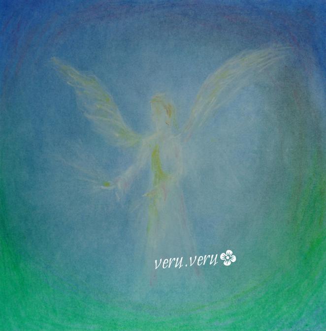 anděl - suchý pastel