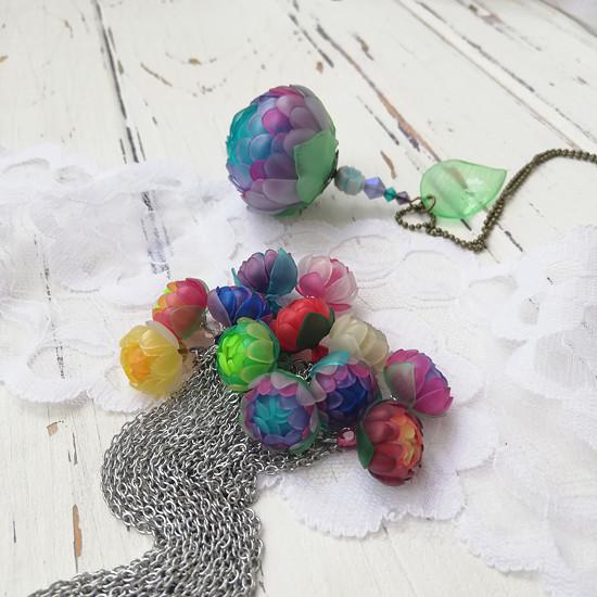 náhrdelník listopadky z pet lahví
