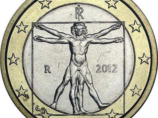italská euro mince