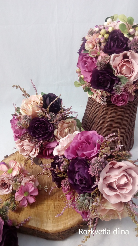 Umělá svatební květinová sada