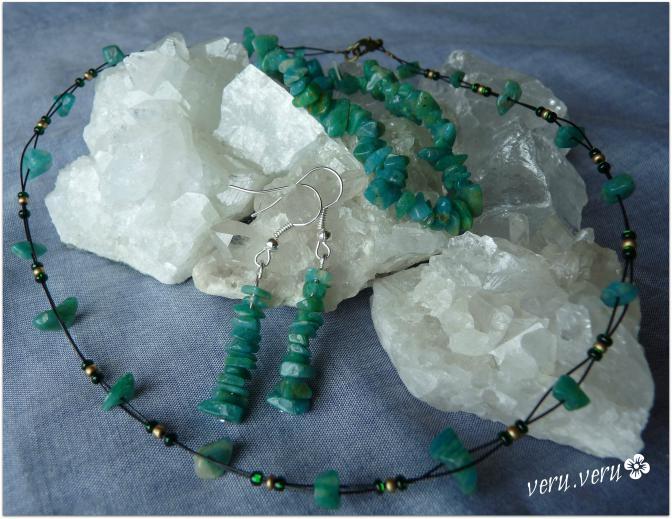 amazonit - sada šperků