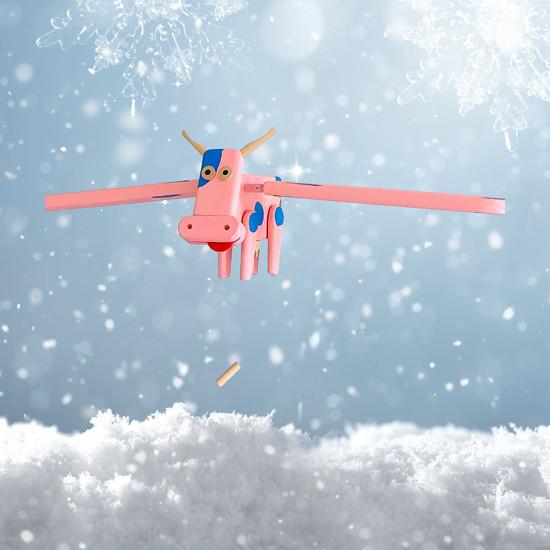 létající růžová kráva