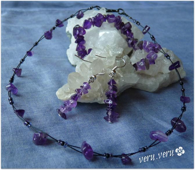 ametyst - sada šperků
